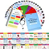 Nursing Notes 60 High Yield Pocket Nursing Reference Cards, Durable Plastic (3.5'' x 5'') - MedSurg, ICU/Critical Care, Pharmacology, OB/Peds - with Bonus Medical Abbreviation Booklet