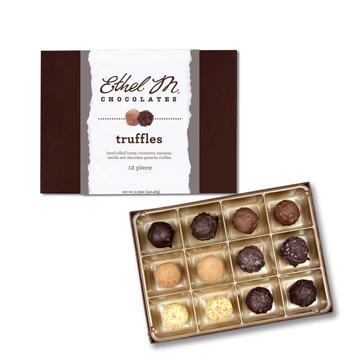 Ethel M Chocolates Truffle Collection (12 piece) by Ethel M. Chocolates