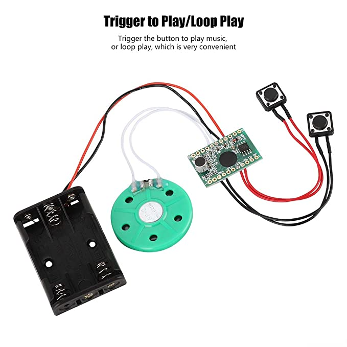 lookthenbuy Programmierbare Gru/ßkarte Sound Chip DIY Music Board Modul mit wiederaufladbarer Lithium-Batterie