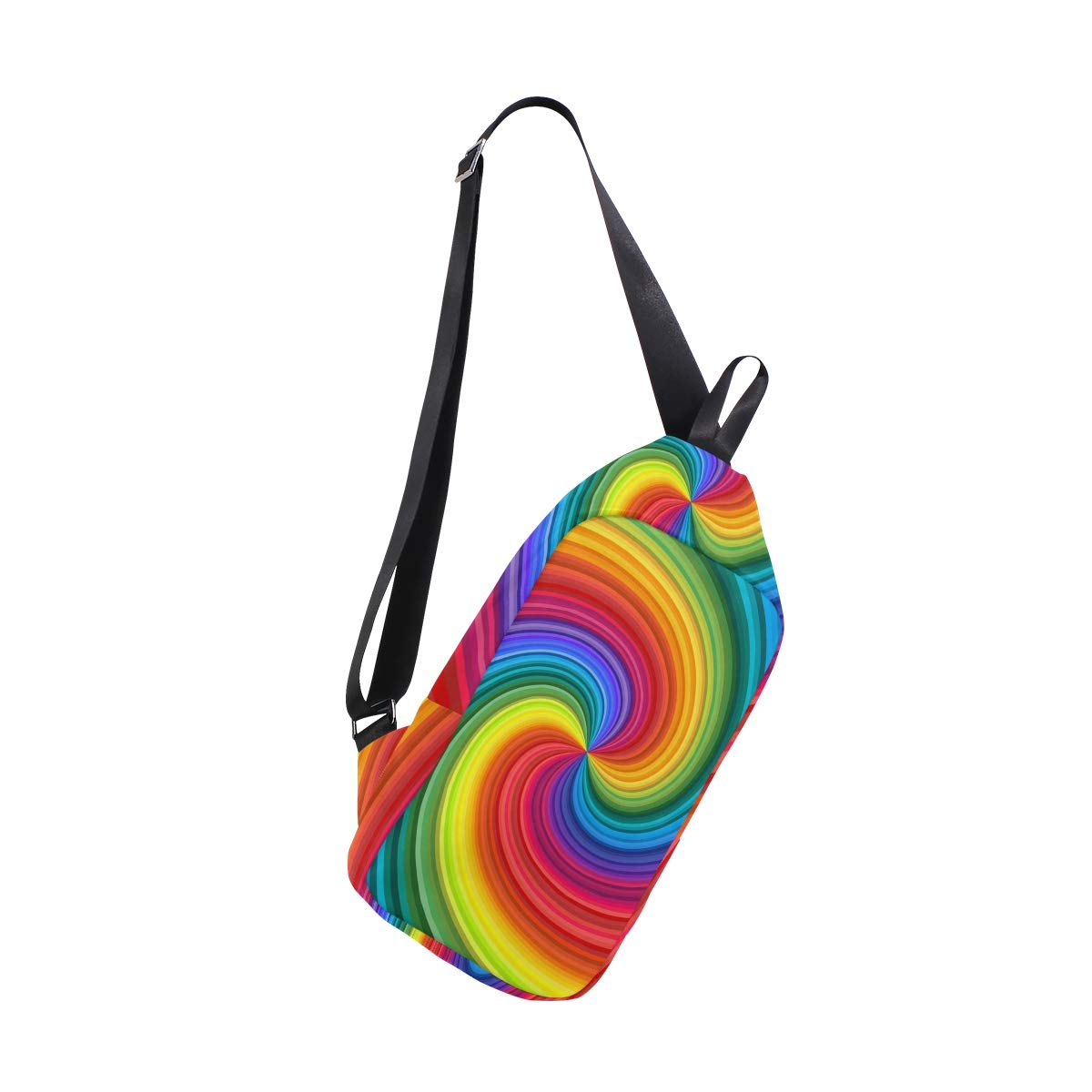TFONE Abstract Colorful Tie Dyed Crossbody Bag Lightweight Chest Shoulder Messenger Pack Backpack Sling Bag