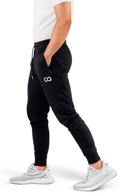 Contour Athletics Men's Joggers Cruise Sweatpants for Men with Zipper Pockets