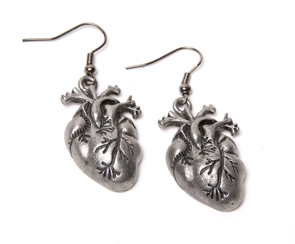 Steampunk Earrings - Human Heart 3
