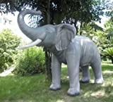 Incredibly Lifelike Giant Inflatable Elephant (L 120 inches) - with Free 12V pump