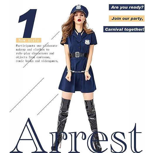 JJAIR Vestido de la Mujer policía, la señorita del Traje ...