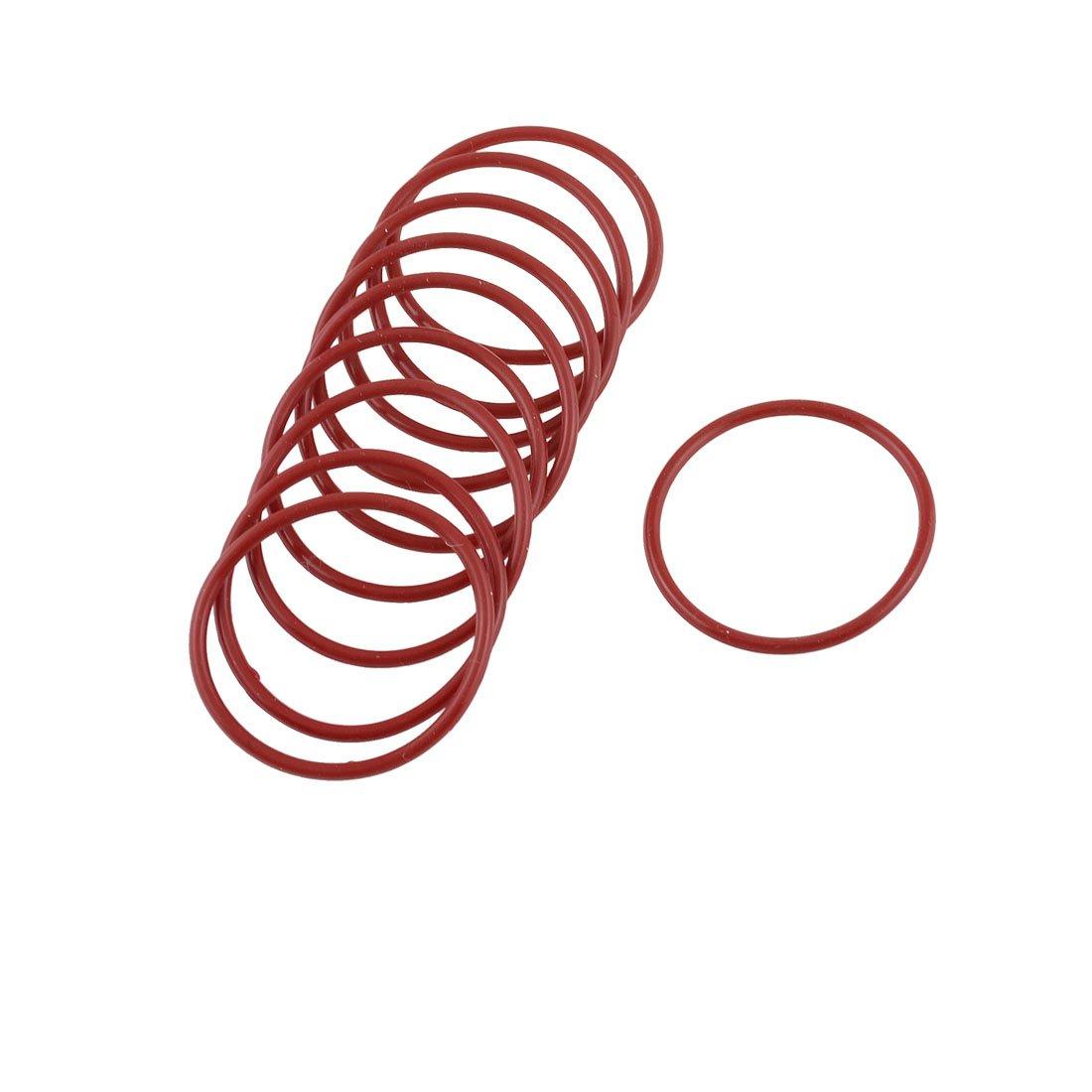 sourcingmap® 10 x 40 mm, spessore: 2 mm, ø esterno Filtro dell'olio in gomma per guarnizione O Rings: Rosso ø esterno Filtro dell'olio in gomma per guarnizione O Rings: Rosso sourcing map a13030700ux0546