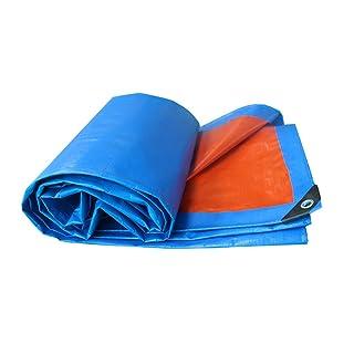 Teloni Tenda da sole impermeabile in tela cerata Tenda parasole da viaggio ultraleggera Autocarro a tenda a tre ruote Tenda a baldacchino Telo di stoffa Spedizione personalizzata, arancione + blu, spe