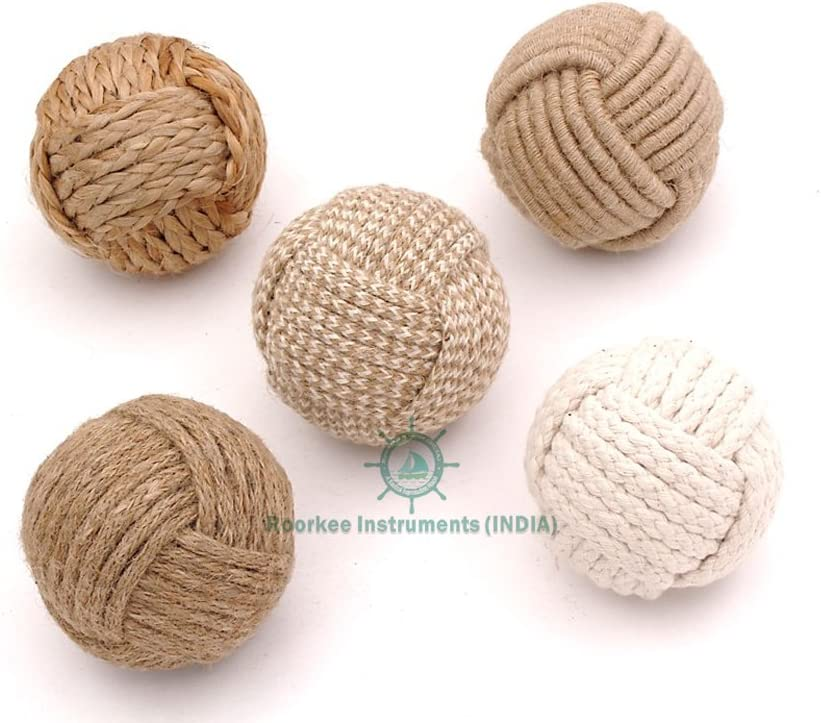 Decorative Rope Balls-Vase Filler,Nautical Decor, House Ornament, Christmas Tree Garden Wedding Party Coffee Table Decoration,Craft DIY, Parrot, Place Card Holder, Wedding Decorations, Party Favor