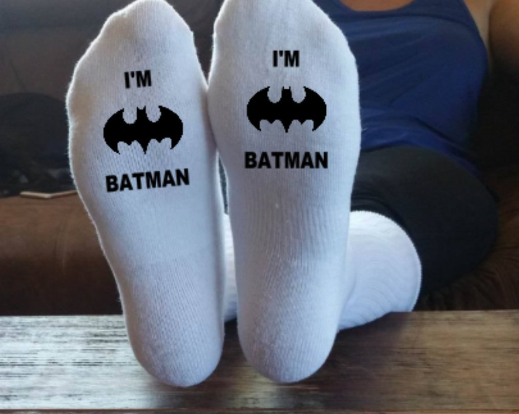 I'm Batman, Funny Socks, Father Socks, Christmas Gift, Stocking Stuffer, Grandpa Gift, Papa Present, Grandfather, Batman,