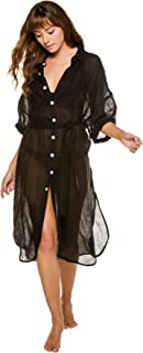 product image for Vitamin A Women's Eco Linen EBW X Shirt Dress Swim Cover Up