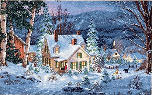 "Winter's Hush Counted Cross Stitch Kit - 16"" x 10"