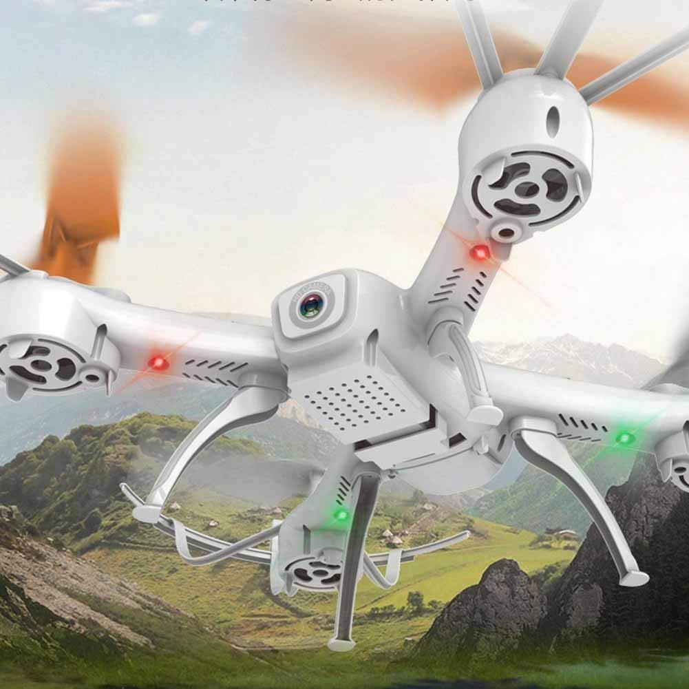 Drone con videocamera Live Video e GPS Return Home Videocamera HD WiFi per Bambini, Principianti e Adulti - Altitude Hold, modalità Headless, One Key Decollo Landing e 3D Flip