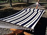 Petra Leisure 14 Ft. Wooden Arc Hammock Stand + Deluxe Quilted Double Padded
