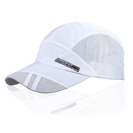 ffec9ffd7e7 Amazon.com   TOOGOO(R) Fashion Mens Summer Outdoor Sport Baseball Hat  Running Visor Cap White   Sports   Outdoors
