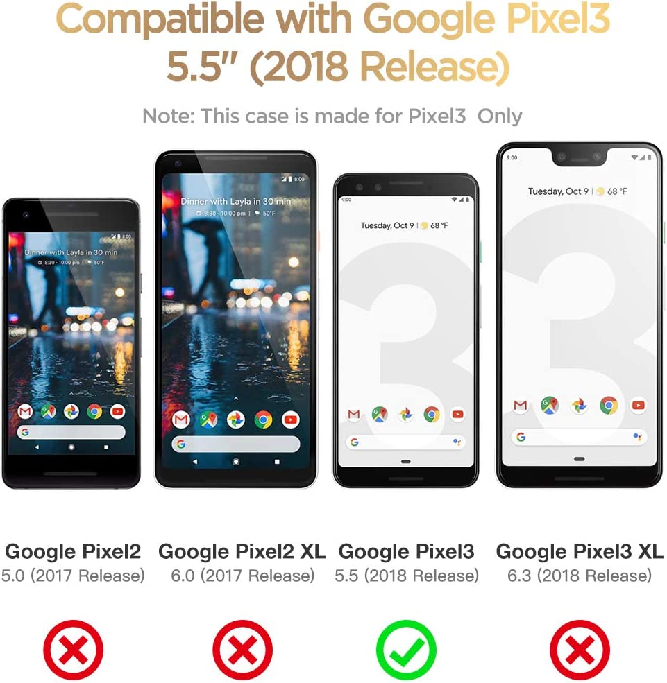 GVIEWIN Marble Google Pixel 3 Case Ultra Slim Thin Glossy Soft Tpu ...