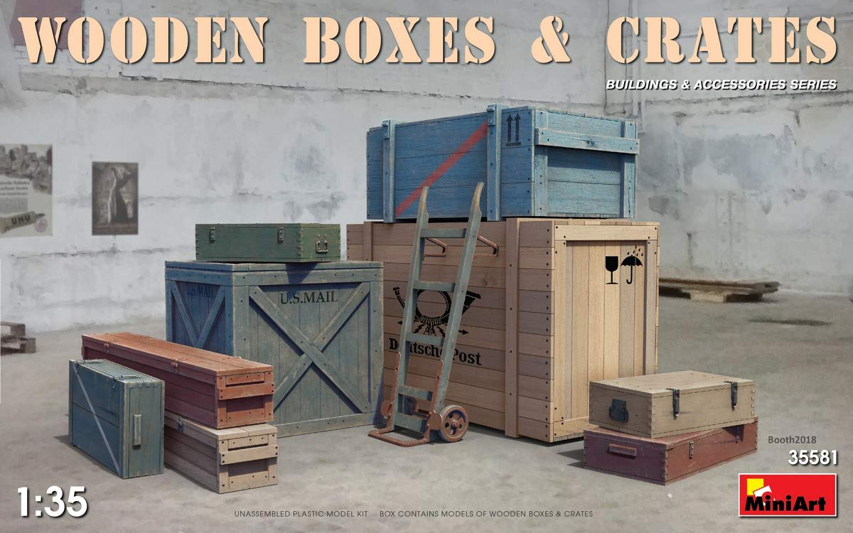 MiniArt 35581 Wooden Boxes /& CRATES 20TH Century Plastic Models KIT 1//35 Scale