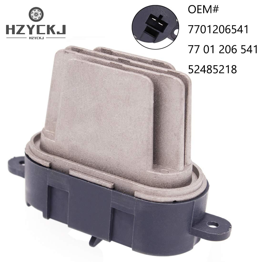 HZYCKJ Resistencia del motor del ventilador OEM # 7701206541 77 01 206 541 52485218