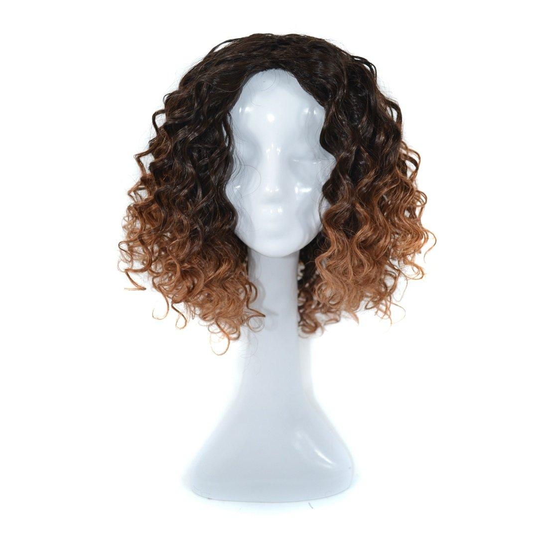 JIANFU 300グラムリアルフルウィッグ女性のためのヨーロピアンとアメリカンブラックDEEPスモールボリュームカーリーウィッグリアルな自然な人間の髪のために中傷と合成のデイリーウィッグ (Color : Black dark brown 1BT30#) B07MYL4FSS Black dark brown 1BT30#