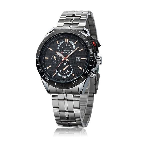HWCOO Reloj de Moda Personalizado 8148 Reloj de Negocios de Hombres de Tres Pines Falsos de