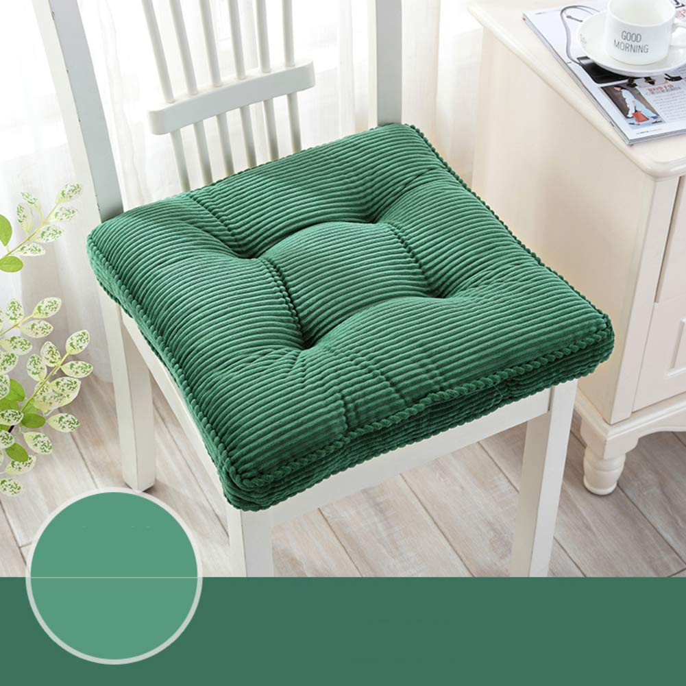 YXDDG Indoor Foam Chair Cushion Seat Chair Cushion Can be Used in Restaurants, Kitchens, Offices, Study rooms锛孡ong Trip,7 Colors-Green 48x48x11cm(19x19x4)
