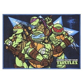 teenage mutant ninja turtles area rug amazon co uk kitchen home