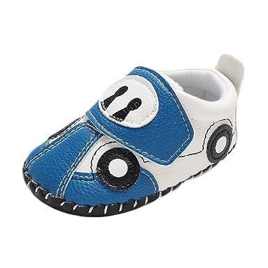 095c4cf32f55d Robemon Bottes Enfant Infantile Nouveau-né Mignon bébé Filles Chaussure  Voiture Berceau Souple Anti-dérapant Unique Sneaker 0-18 Mois  Amazon.fr   Vêtements ...