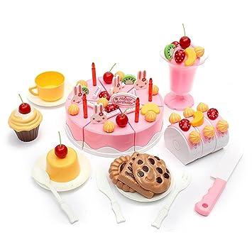 Frontier Conjunto de 75pcs conjunto tarta de cumpleaños para ...