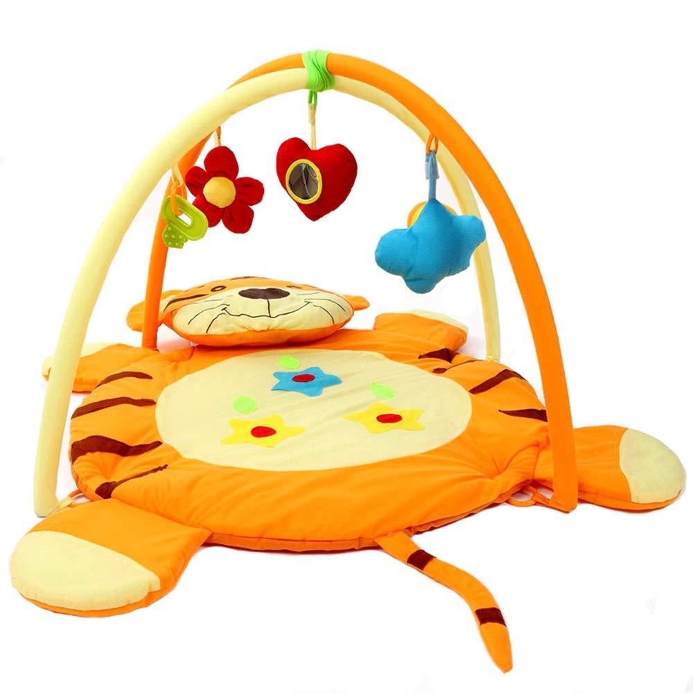 Baby Play Mat con Centro de Actividades Creative Tiger Design Kids Baby Game Mat Manta de Arrastre Infantil Alfombra con Juguetes Actividad Gimnasio de Juguete