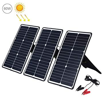 LUOKANGFAN Cargador Solar Plegable portátil 3 PCS 20W ...