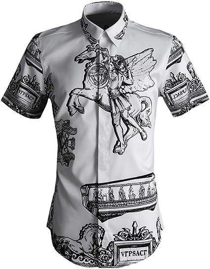 Camisa hawaiana de los hombres Camisa de manga corta de ...