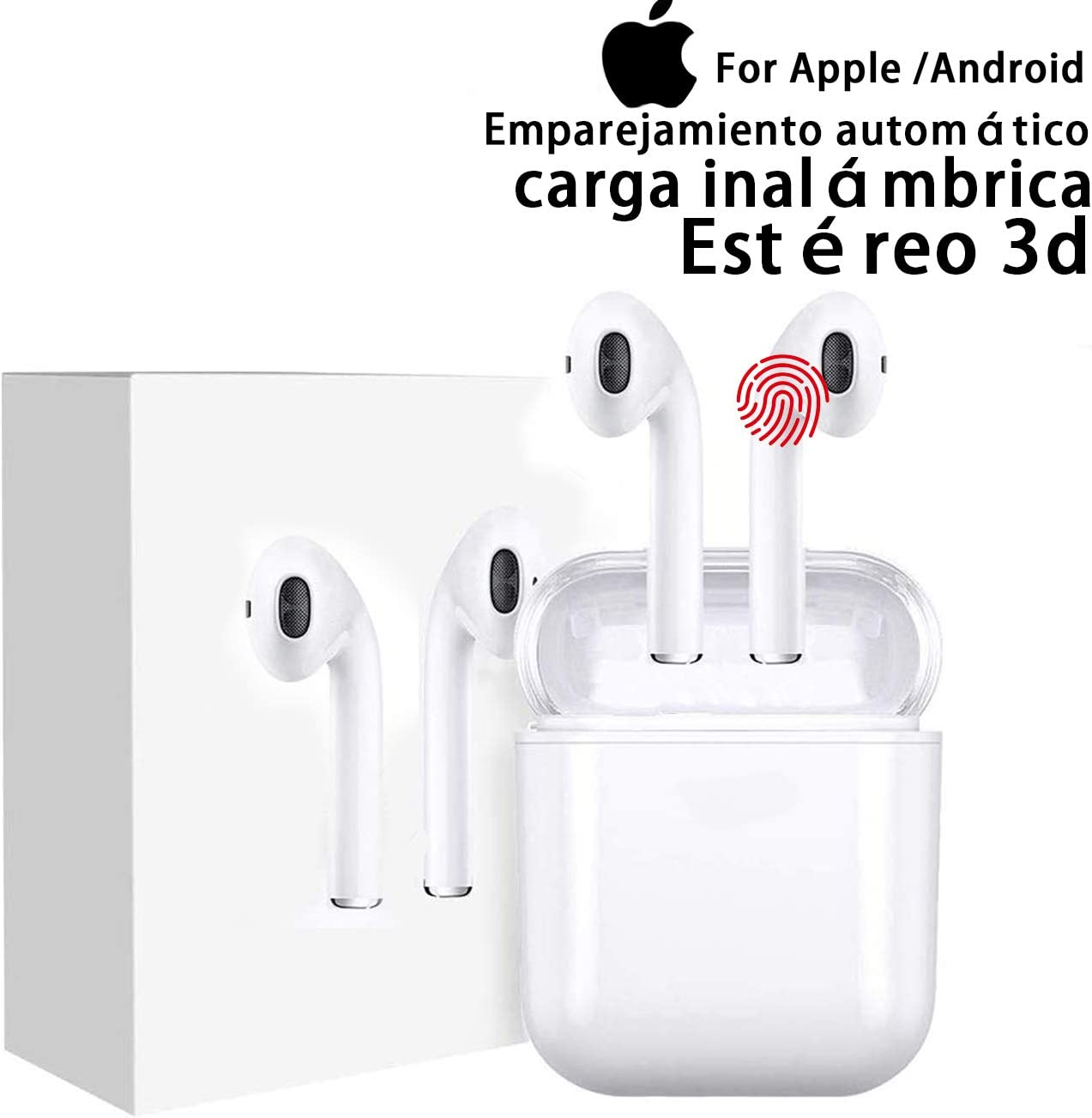 Auriculares inalámbricos Bluetooth 5.0, Auriculares inalámbricos internos, IPX7 a Prueba de Agua, reducción de Ruido estéreo 3D, Compatible con iPhone/Huawei/Samsung/Airpods Pro (2.ª generación
