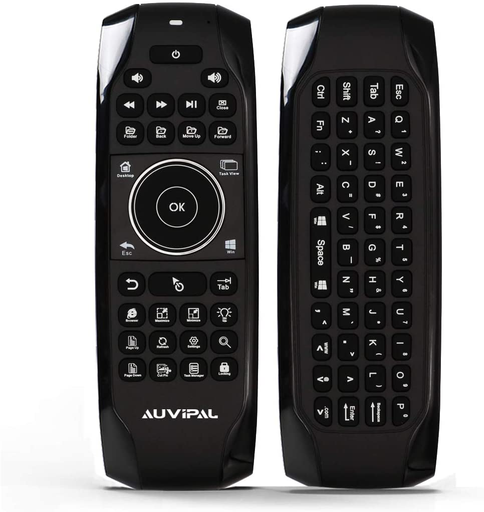 AuviPal G10 Backlit 2.4GHz Wireless Air Mouse Remote with Shortcut Keys