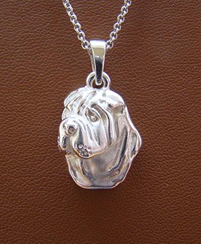 Sterling Silver Shar Pei Head Pendant ()