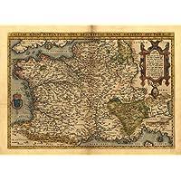 Reproducción de mapa antiguo Galo, Francia, sur