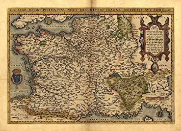 Worksheet. Reproduction Antique Map of Gaul France Southern England