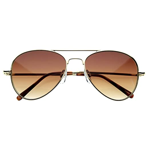 zeroUV - Small Frame Women Aviator Sunglasses for Small Faces 50 mm (Gold) 931220973c