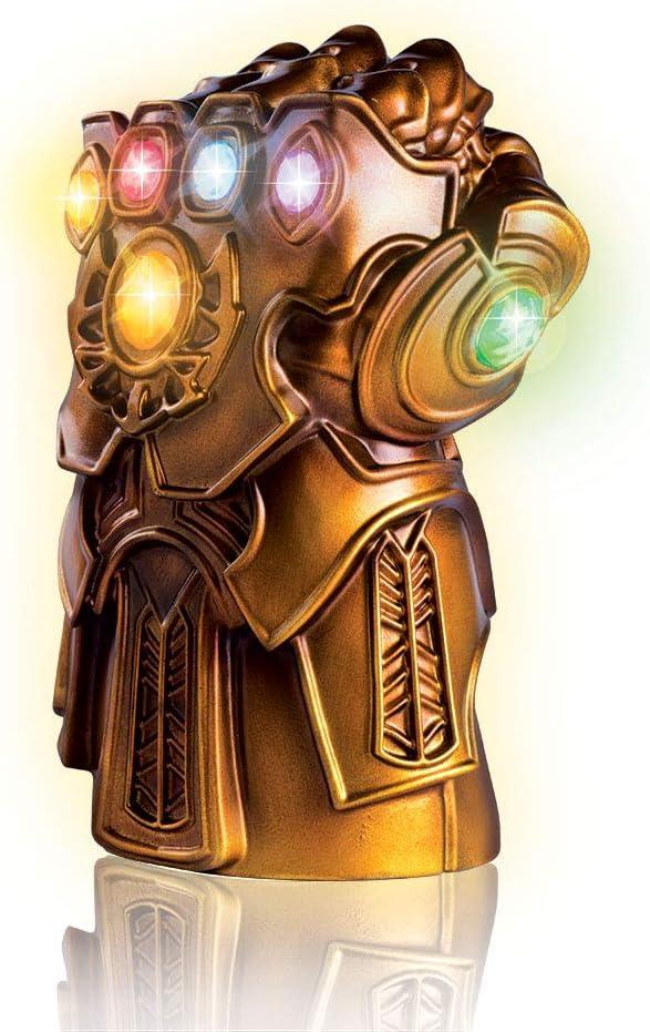 """Marvel Avengers Thanos Gauntlet Lamp - Six Light Up Infinity Gems 8"""" Desk Lamp"""