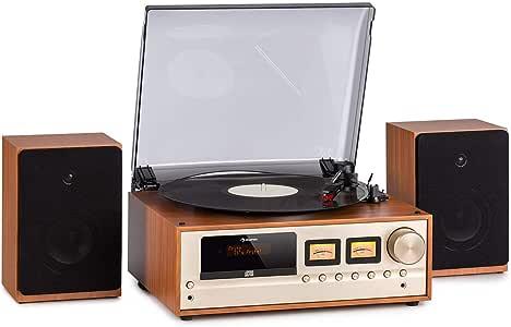 auna Oxford Equipo estéreo Retro: Amazon.es: Electrónica