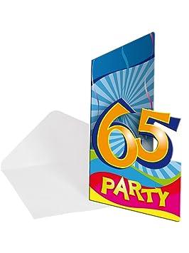 Folat 8 Unidades de cumpleaños 65 años Party: Amazon.es ...