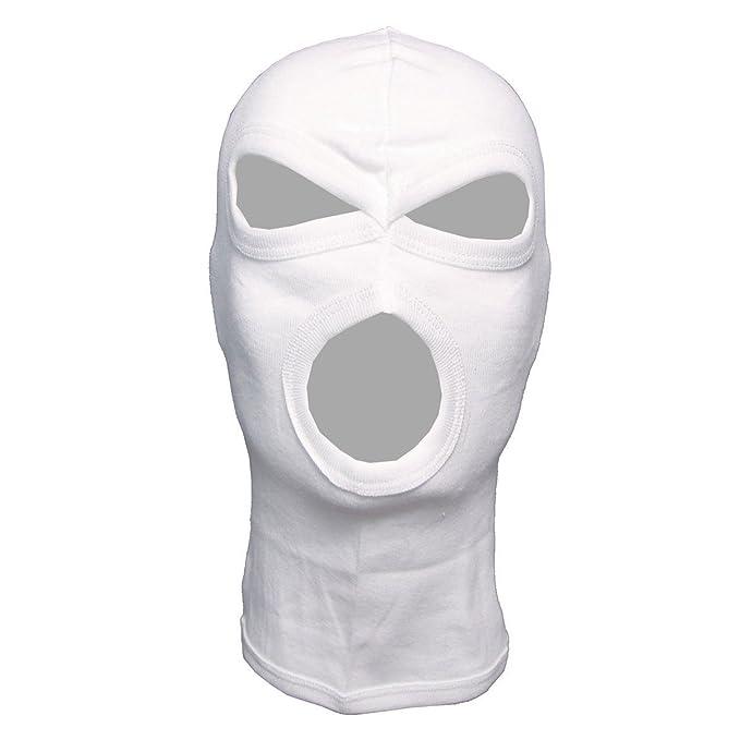 Sconto del 60% spedizione gratuita store MFH 3 foro passamontagna leggero cotone Bianco: Amazon.it ...