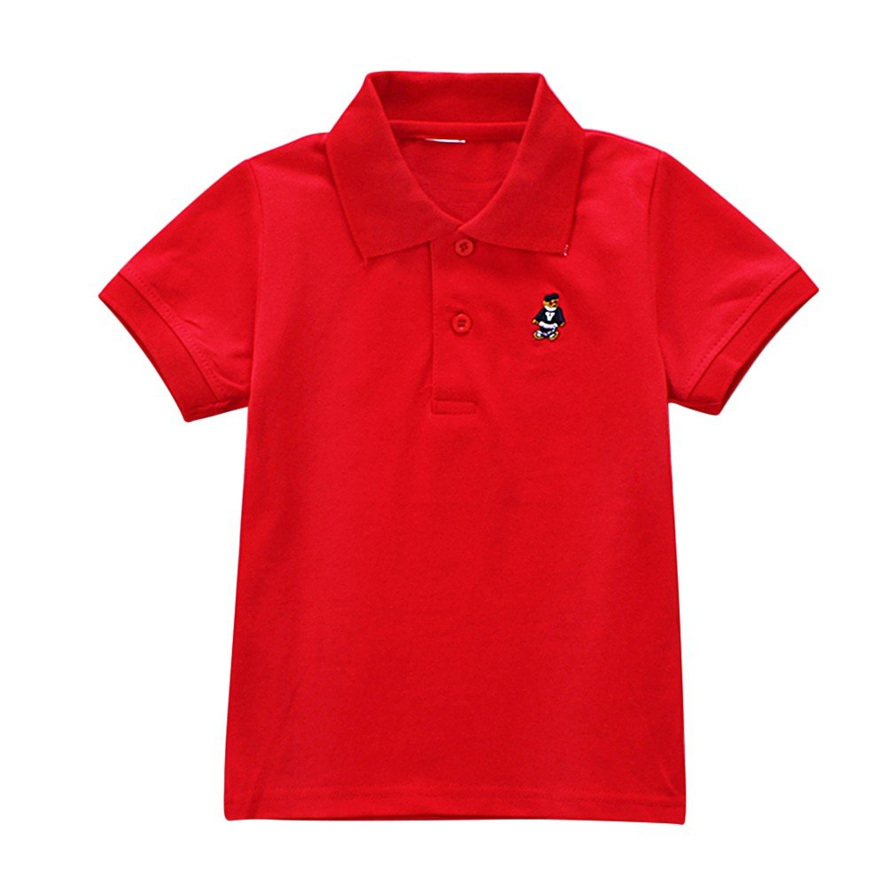Blaward Chicco Bambino Polo Manica Corta Ragazzi T-Shirt Polo Uniforme Bimbi Bambini Estivo