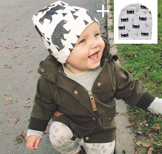 Amazon.com  RichBoo Earflap Beanie Baby with Pom Fleece Lining ... 41b7ea89693b