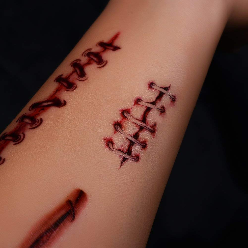 San Jison Tatuajes temporales 10 Hojas de Halloween Zombie ...