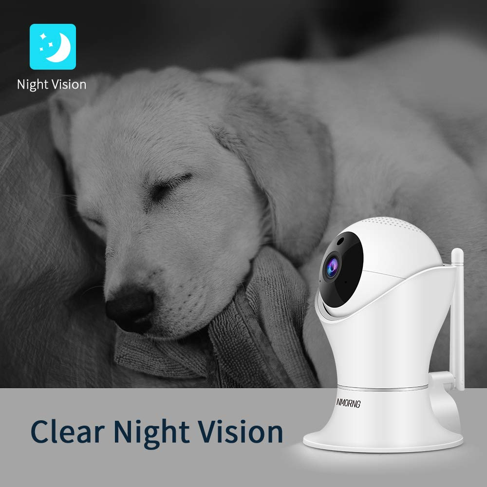Pet Camera, 1080P Home Security Camera with Night Vision, Two-Way Audio, WIFI IP Camera for Baby Monitor, Auto-Cruise Baby Camera, Remote Control by App Indoor Camera, Cloud Storage by NMORNG (Image #7)