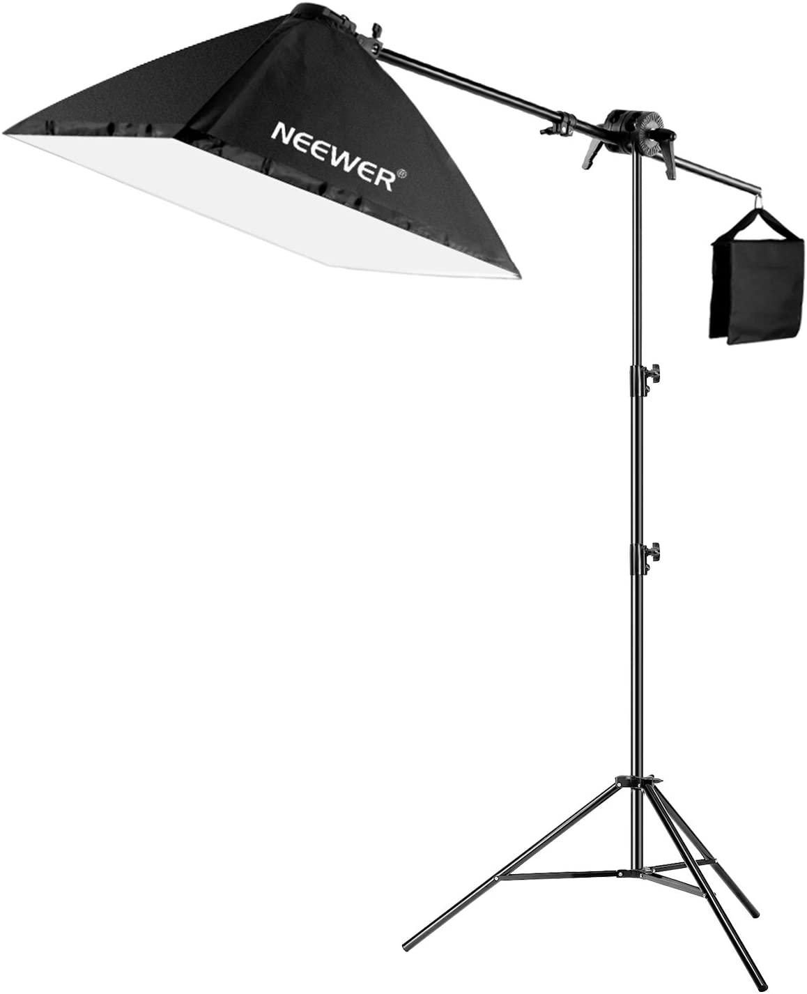 Neewer 200W Fotografía Kit Iluminación para Caja Luz:60cm Caja Luz Cuadrada con Brazo de Pluma,45W Bombilla,Soporte de Luz Ajustable 190cm y Bolsa Arena para Estudio: Amazon.es: Electrónica