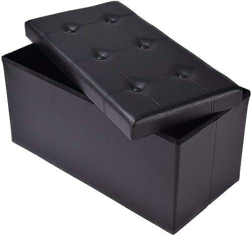 """Giantex 30"""" L Folding Storage Ottoman Bench"""