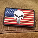 Punisher American Flag PVC Morale Patch