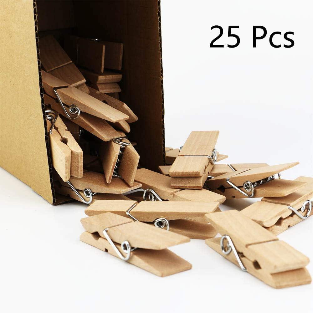 EasyBravo 25Pcs Pinzas para Tender la Ropa Naturales Grandes, 7,2 cm de Largo 1,8 cm de Ancho, Clavijas de lavandería Resistentes: Amazon.es: Hogar