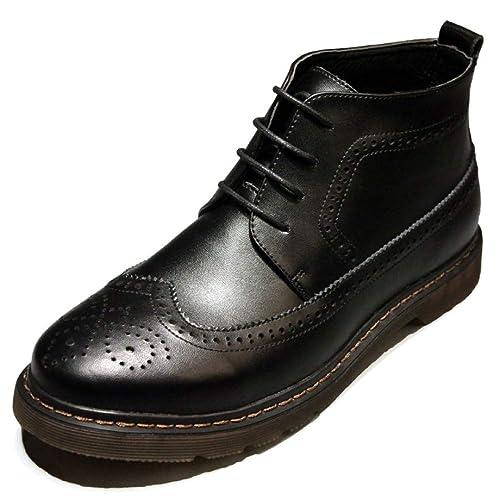 Botas Martin para Hombre Bullock De Cuero Genuino con Cordones Botines Vintage Botines Ocasionales: Amazon.es: Zapatos y complementos
