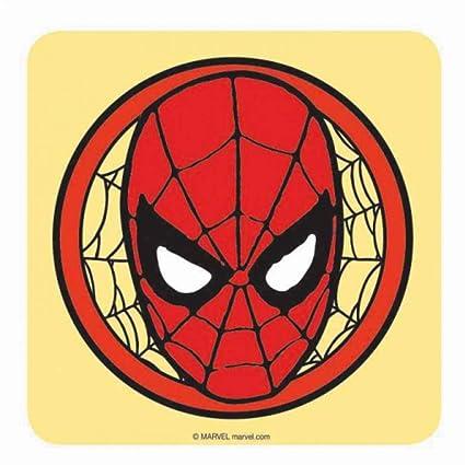 Amazon Com Genuine Marvel Comics Spiderman Logo Single Coaster
