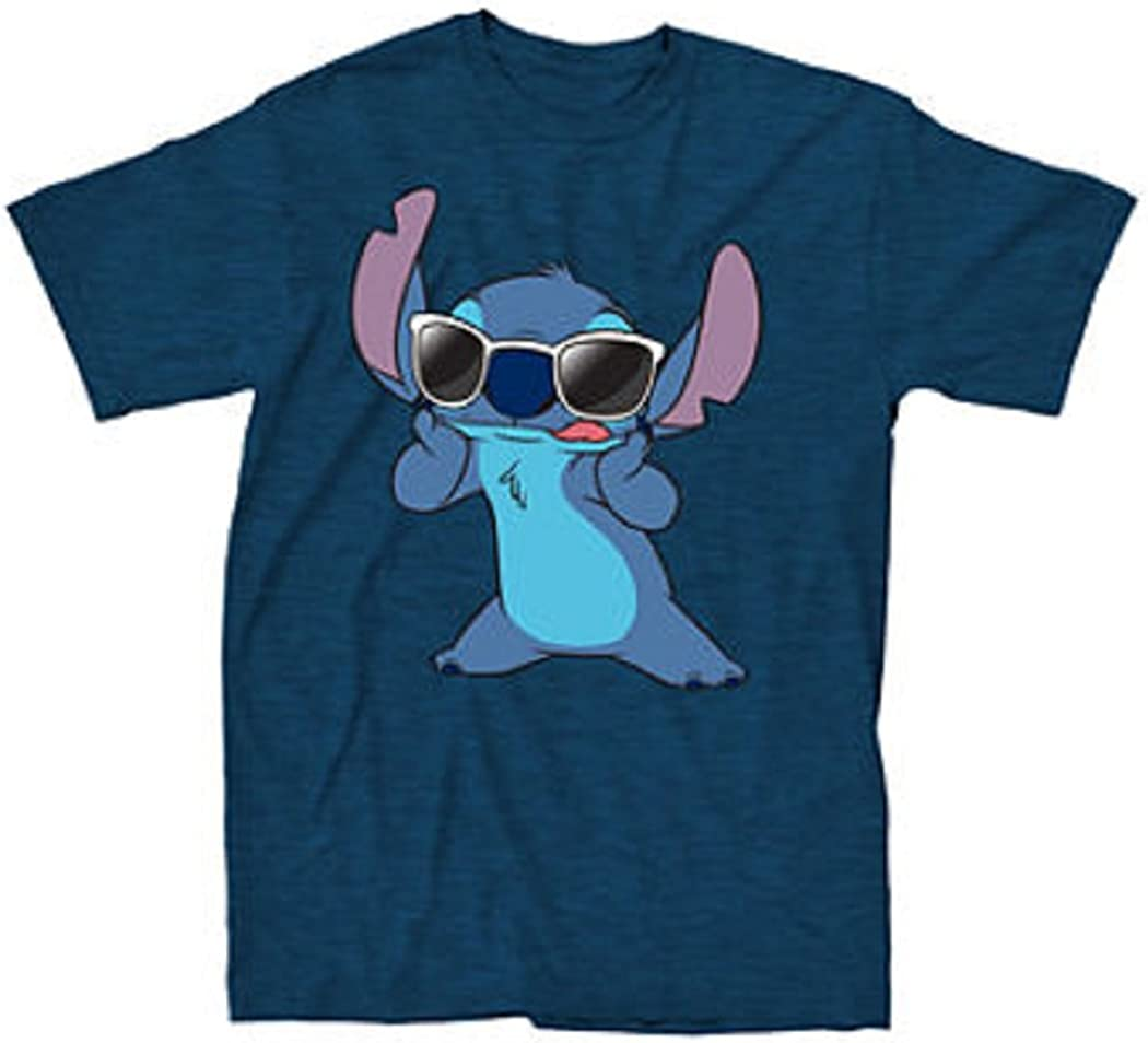 Disney Lilo /& Stitch Boxed Up Stitch Poses T-Shirt